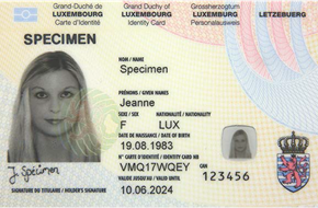 Avis important – Carte d'identité
