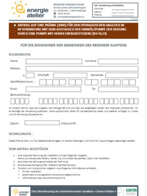 Prime Equilibrage hydraulique 2021 (D)