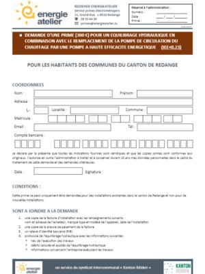 Prime Equilibrage hydraulique 2021 (F)